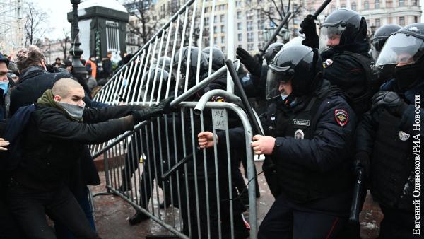 Арестован первый из обвиняемых в нападении на полицейских в ходе незаконных акций в Москве