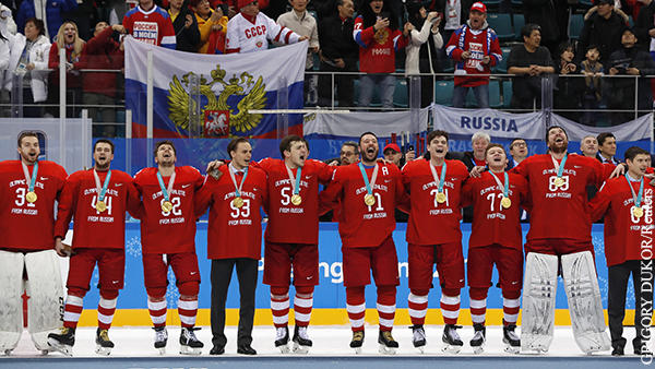 Катюшу решили исполнять вместо гимна России на ЧМ по хоккею в Латвии