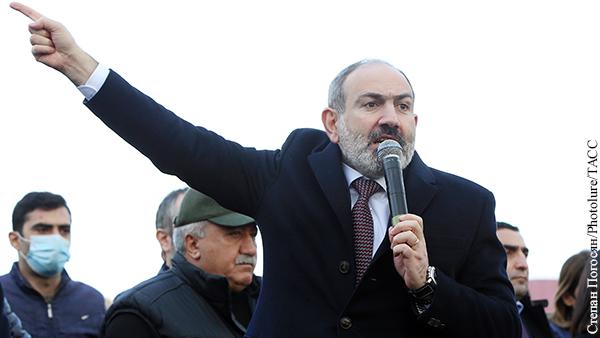 «Власть в нашей стране принадлежит народу», – заявил Пашинян перед митингом