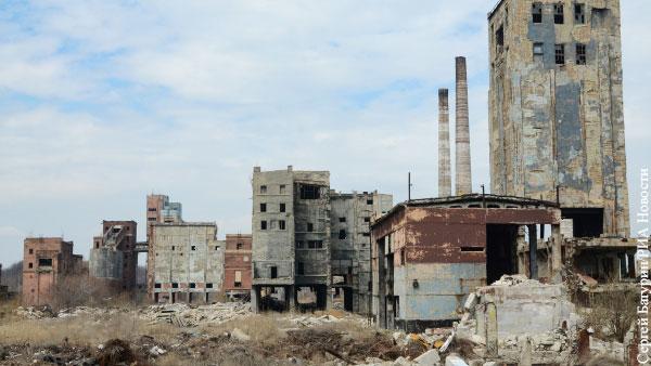 Промышленность Украины превратилась в руины