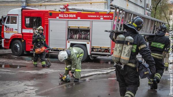 При пожаре в московском отеле спасено 300 человек