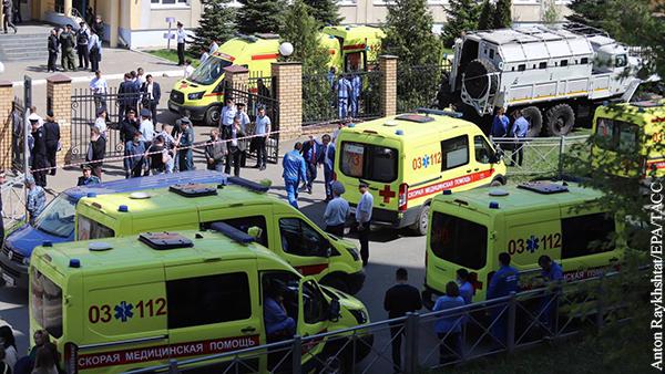 Стало известно о состоянии пострадавших при стрельбе в казанской школе