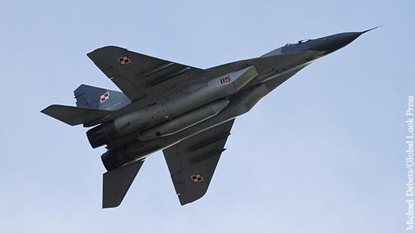 Польский МиГ-29 в ходе учений обстрелял истребитель напарника