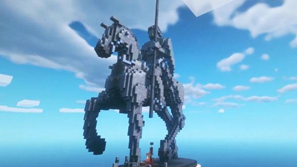 Школьница построила в Minecraft памятник Александру Невскому