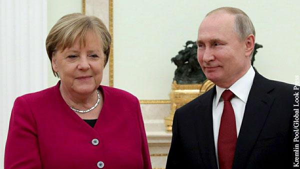 В ФРГ назвали подарком Меркель Путину соглашение с США по Северному потоку  2