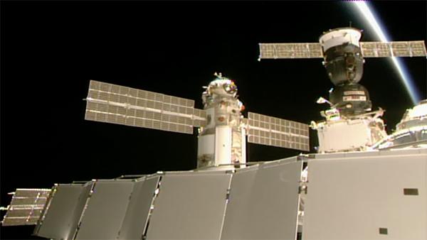Момент стыковки модуля с МКС