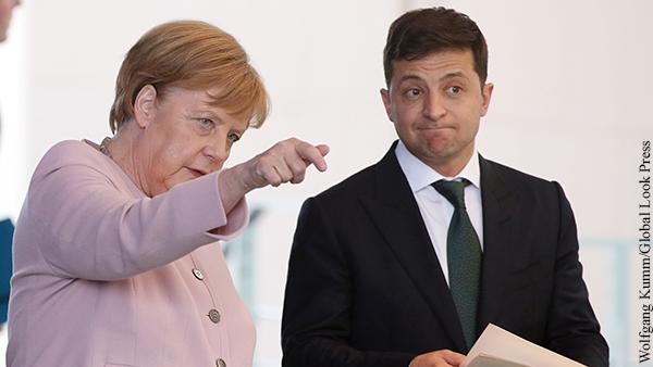 На Украине раскрыли планы Меркель на встречу с Зеленским