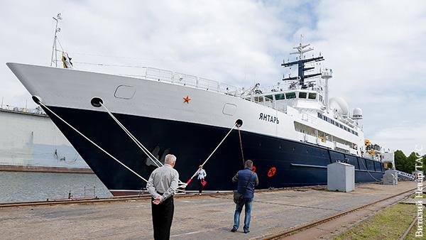 Океанографическое исследовательское судно «Янтарь» наводит страх на западных обывателей