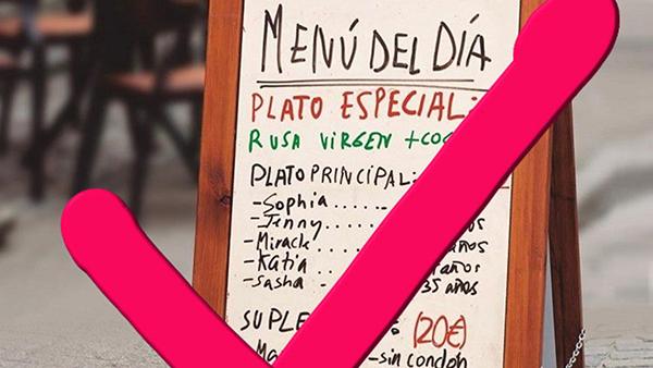 Россия потребовала убрать рекламу в Испании с оскорблением русских девушек