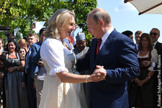 Путин сделал сюрприз главе МИД Австрии