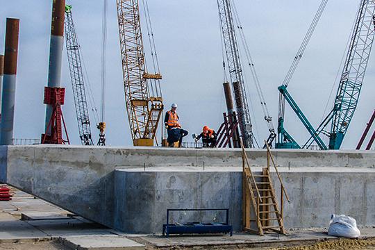 Возведена первая опора Керченского моста