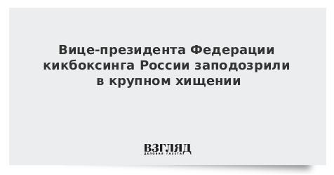 Вице-президента Федерации кикбоксинга России заподозрили в крупном хищении