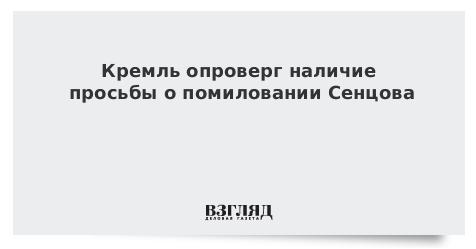 Кремль опроверг наличие просьбы о помиловании Сенцова