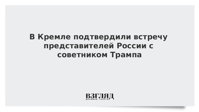 В Кремле подтвердили встречу представителей России с советником Трампа