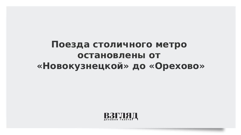 Поезда столичного метро остановлены от «Новокузнецкой» до «Орехово»