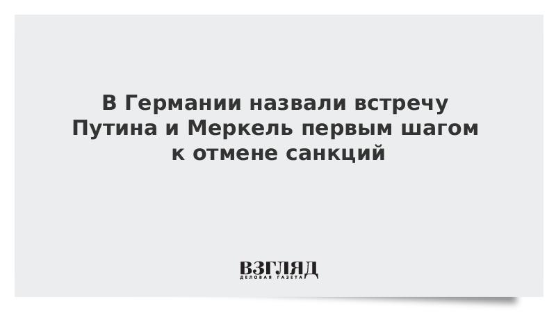 В Германии назвали встречу Путина и Меркель первым шагом к отмене санкций
