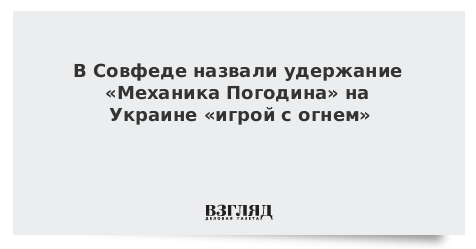 В Совфеде предупредили Киев об ответе России на задержание «Механика Погодина»