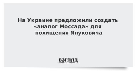 На Украине предложили создать «аналог Моссада» для похищения Януковича