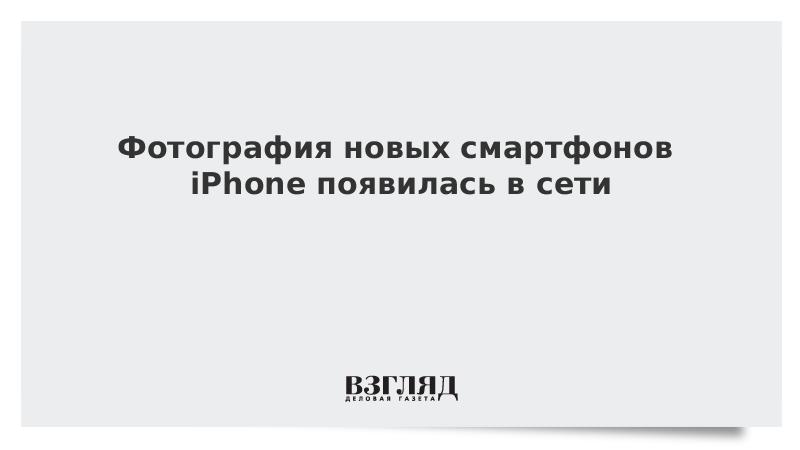 Фотография новых смартфонов iPhone появилась в сети
