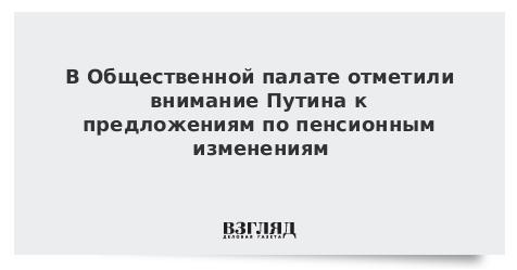 Путин учел предложения Общественной палаты по пенсионным изменениям