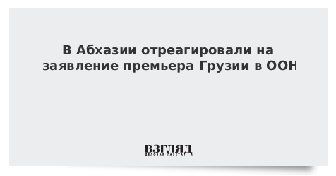В Абхазии отреагировали на заявление премьера Грузии в ООН