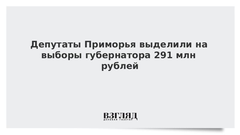 Депутаты Приморья назначили дату выборов губернатора