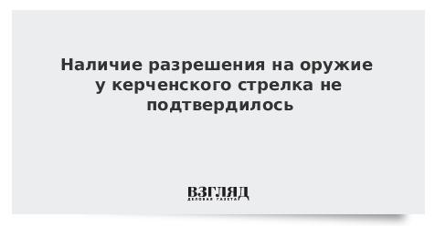 Наличие разрешения на оружие у керченского стрелка не подтвердилось