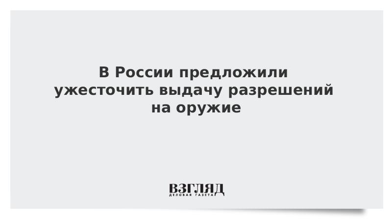 В России предложили ужесточить выдачу разрешений на оружие