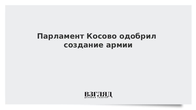 Парламент Косово одобрил создание армии
