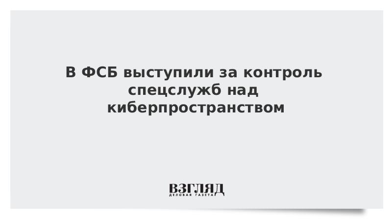 В ФСБ выступили за контроль спецслужб над киберпространством
