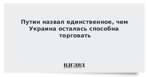 Путин назвал единственное, чем Украина осталась способна торговать