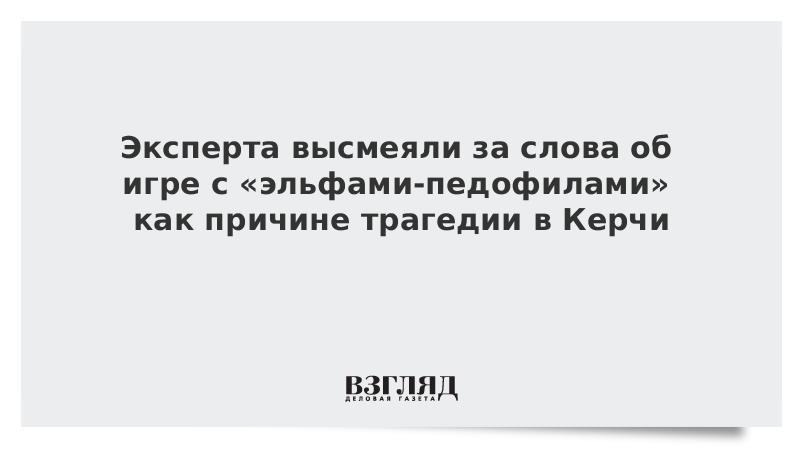 Эксперта высмеяли за слова об игре с «эльфами-педофилами» как причине трагедии в Керчи