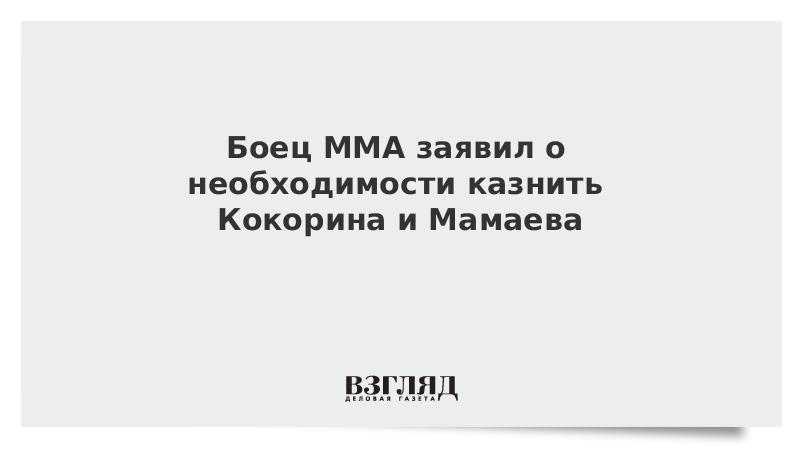 Боец ММА заявил о необходимости «казни» для Кокорина и Мамаева