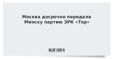 Москва досрочно передала Минску партию ЗРК «Тор»