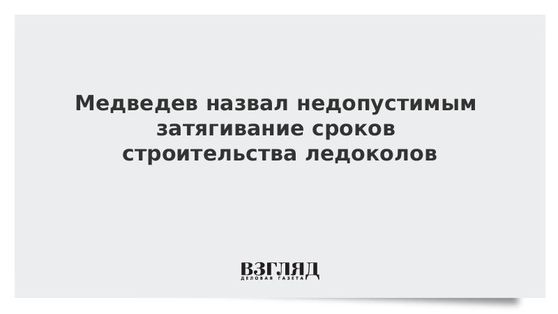 Медведев назвал недопустимым затягивание сроков строительства ледоколов