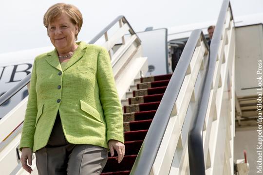 Меркель вылетела на саммит G20 рейсовым самолетом