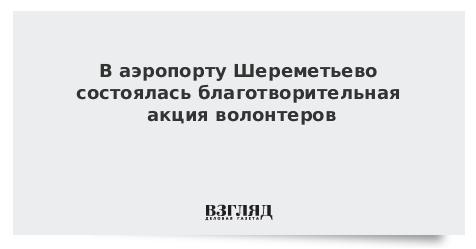 В аэропорту Шереметьево состоялась благотворительная акция волонтеров