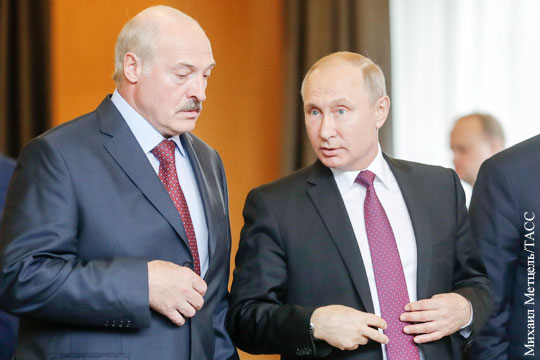 Лукашенко поспорил с Путиным о цене на газ