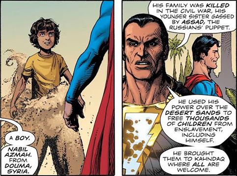 В комиксе про Супермена «русскую марионетку» Асада обвинили в химатаке