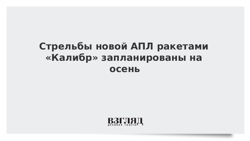 Стрельбы новой АПЛ ракетами «Калибр» запланированы на осень