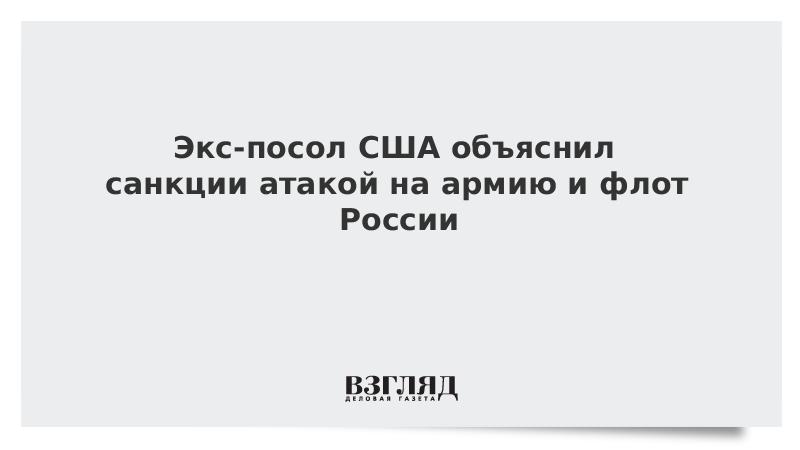 Экс-посол США объяснил санкции атакой на армию и флот России