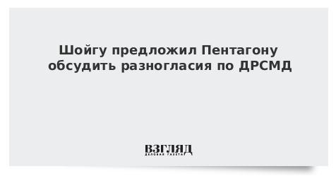 Шойгу предложил Пентагону обсудить разногласия по ДРСМД