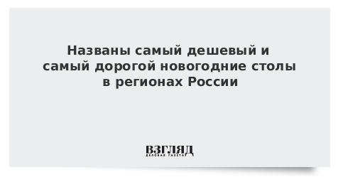 Названы самый дешевый и самый дорогой новогодние столы в регионах России