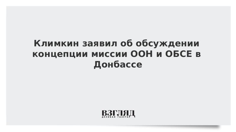 Климкин заявил об обсуждении концепции миссии ООН и ОБСЕ в Донбассе