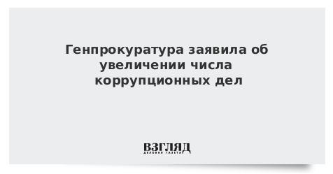 Генпрокуратура заявила об увеличении числа коррупционных дел