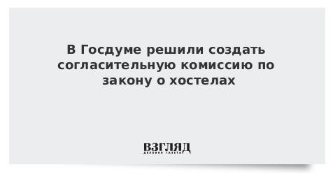В Госдуме решили создать согласительную комиссию по закону о хостелах