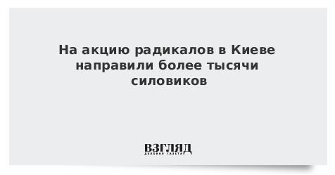 На акцию радикалов в Киеве направили более тысячи силовиков