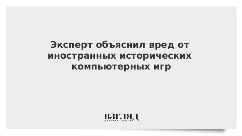 Эксперт объяснил вред от иностранных исторических компьютерных игр
