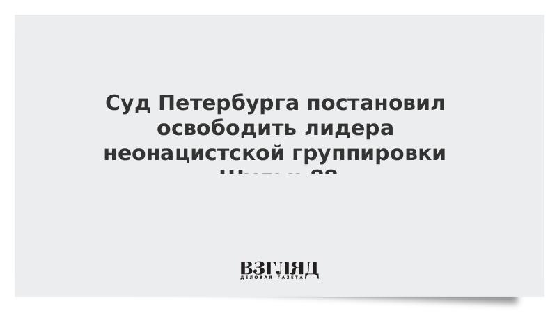 Суд Петербурга постановил освободить лидера неонацистской группировки «Шульц 88»