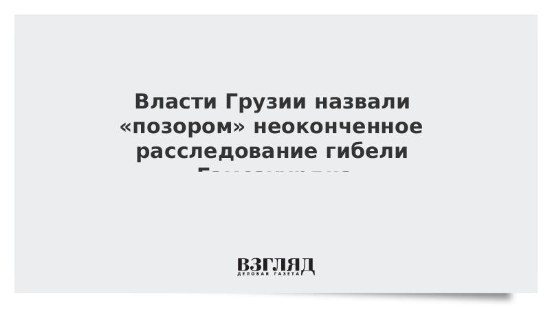 Власти Грузии назвали «позором» неоконченное расследование гибели Гамсахурдиа
